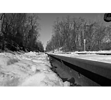 Train Tracks On a Snowy Day Photographic Print