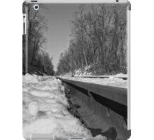 Train Tracks On a Snowy Day iPad Case/Skin