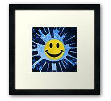 STONEHENGE SMILEY Framed Print