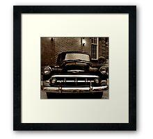 Old Cop Car  Framed Print