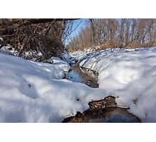 HDR Snowy pond Photographic Print