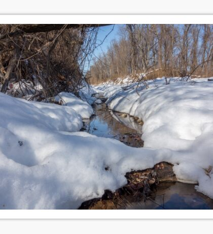HDR Snowy pond Sticker