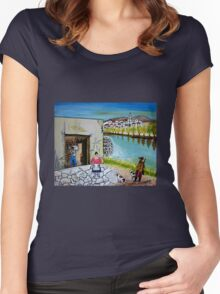 Paesaggio siciliano Women's Fitted Scoop T-Shirt