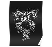 Graceful Angelic Rune- Inverted Poster