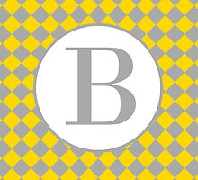 B Checkered by MonogramMonkey