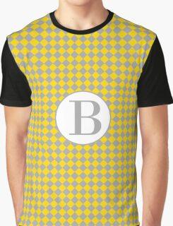 B Checkered Graphic T-Shirt