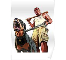 GTA - GTA 5 - Franklin and Chop Poster
