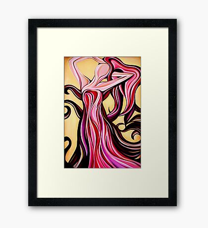 Lady Freedom Framed Print