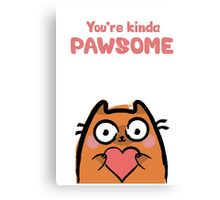 Cute Love Cat Canvas Print