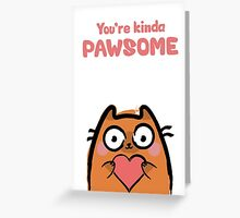 Cute Love Cat Greeting Card