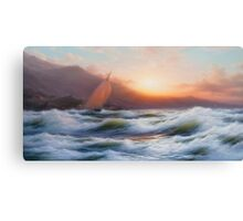 A Sail, Seascape, Canvas Print