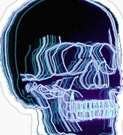 Neon Trippy Skull Sticker