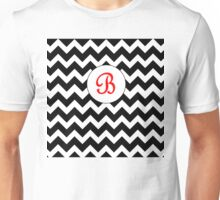 Red B Chevron Unisex T-Shirt
