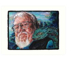 George R. R. Martin Father Of Dragons Art Print