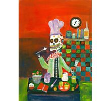 Chef - Day  of the Dead Photographic Print