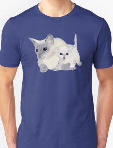 Siamese Mother Cat and Kitten T-Shirt