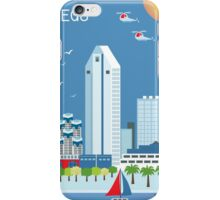 San Diego - Skyline Illustration by Loose Petals iPhone Case/Skin