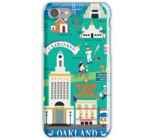 Oakland - Collage Illustration by Loose Petals iPhone Case/Skin
