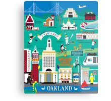 Oakland - Collage Illustration by Loose Petals Metal Print