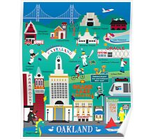 Oakland - Collage Illustration by Loose Petals Poster
