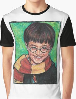 Harry Potter As Portrayed By Actor, Daniel Radcliffe Graphic T-Shirt