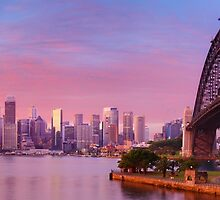 Sydney Harbour Bridge Dawn, New South Wales, Australia by Michael Boniwell