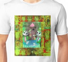 The Gamblers -  Day of the Dead  Inspired Folk Art Unisex T-Shirt