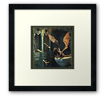 Fantasy Scene with Dragons Framed Print