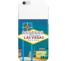 Las Vegas- Skyline Illustration by Loose Petals iPhone Case/Skin
