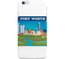 Fort Worth - Collage Illustration by Loose Petals iPhone Case/Skin