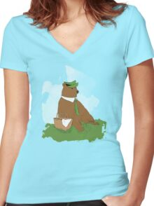 Pick-A-Nick Women's Fitted V-Neck T-Shirt