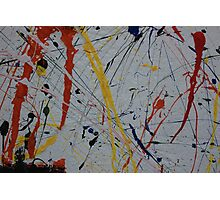 Abstract Paint Splatters Photographic Print