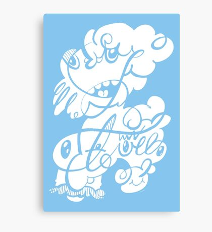 The Doodle family Canvas Print