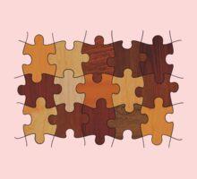 Puzzle Wood Baby Tee