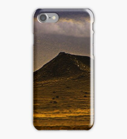 lonely dark mountain iPhone Case/Skin