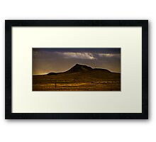 lonely dark mountain Framed Print