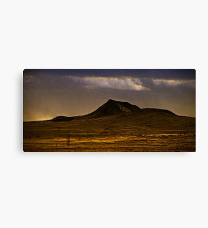 lonely dark mountain Canvas Print
