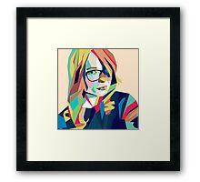 Hipster Girl Framed Print