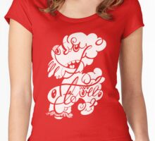 The Doodle family Women's Fitted Scoop T-Shirt