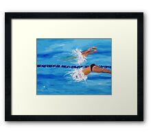 FIRST OFF THE BLOCKS Framed Print