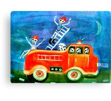 Skeleton Crew FIREFIGHTERS day of the dead Canvas Print