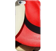 Red and White Hats iPhone Case/Skin