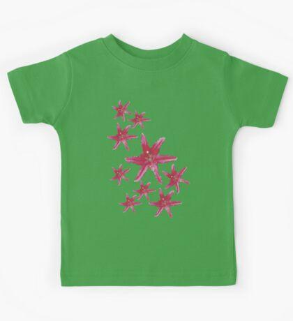 Pink Lilies Stars Kids Tee
