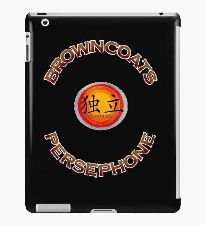 Browncoats Persephone on Black iPad Case/Skin