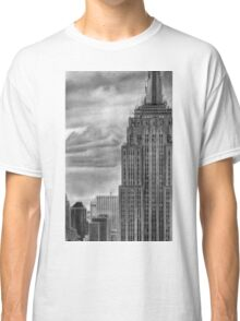 Empire State  Building New York Pencil Drawing Classic T-Shirt