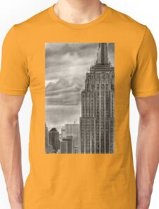 Empire State  Building New York Pencil Drawing Unisex T-Shirt