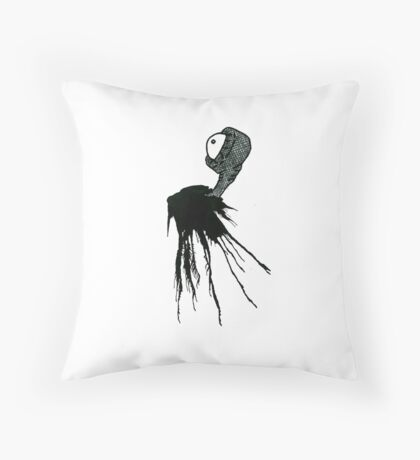 Ink Monster Graphic Throw Pillow
