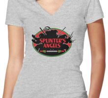 Splinter's Angels Women's Fitted V-Neck T-Shirt