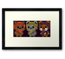 Ewok Pixel Art Framed Print