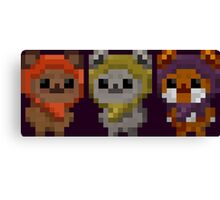 Ewok Pixel Art Canvas Print